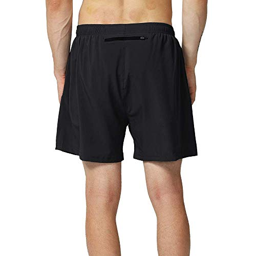 Hifunk Mens Workout Running Shorts 5 Inch Quick Dry Gym Athletic Traning Shorts with Liner and Zipper Pocket