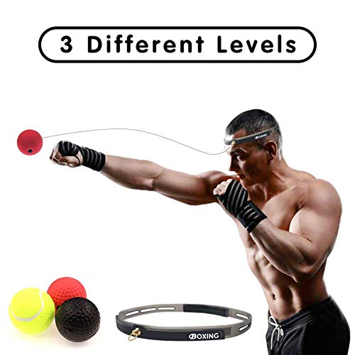 Fight Ball Reflex Boxing Trainer Training Speed Punch Head Band String Ball