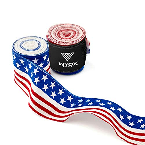 Wyox Hand Wraps Mexican Bandages Boxing Fist Inner Gloves Muay Thai MMA USA Flag